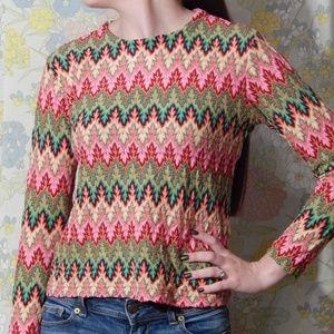 Vintage 90s knit shirt / sweater